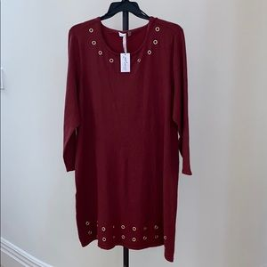 NWT NY Collection Woman's 2X Sweatshirt Dress plus